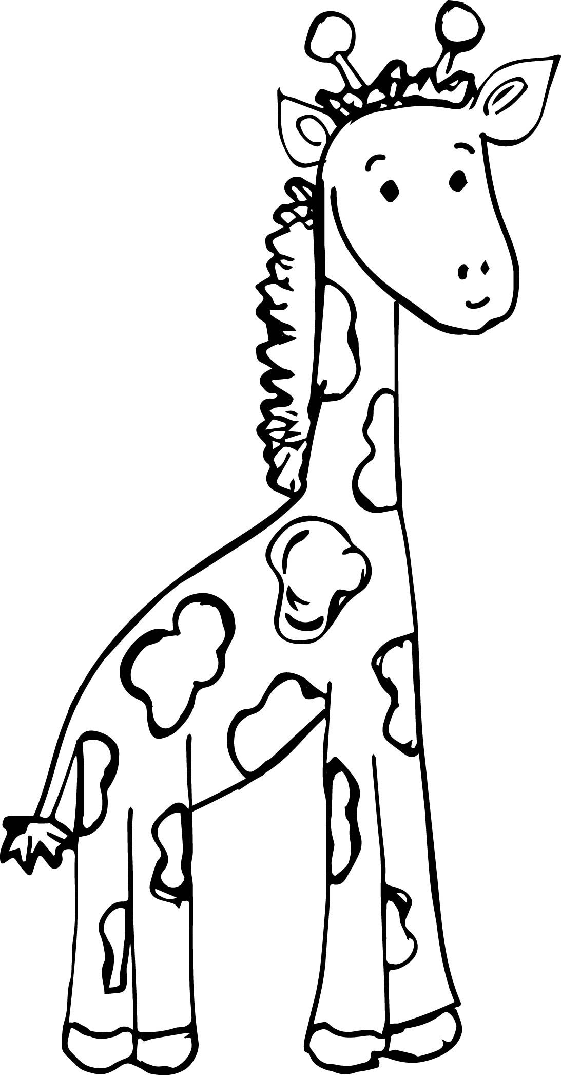 Cool Zoo Baby Giraffe Coloring Page Giraffe Coloring Pages