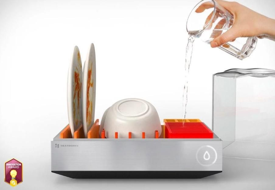Save Space And The Planet With The Tetra Connected Countertop Dishwasher Incredibly Innovative This Smart Countertop Dishwasher Mini Dishwasher Home Gadgets