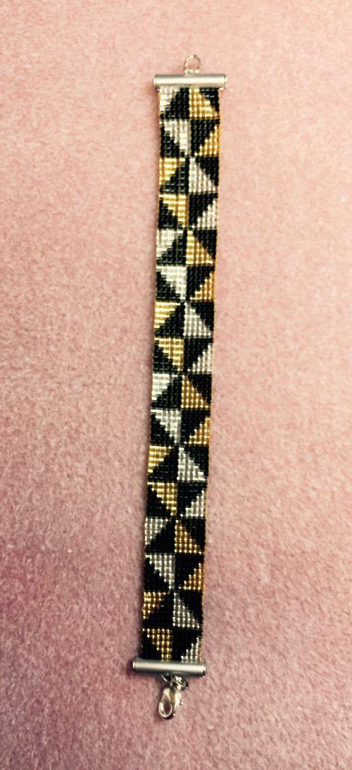 Illusion of Diamond loomed Bracelet | pulseras | Pinterest ...