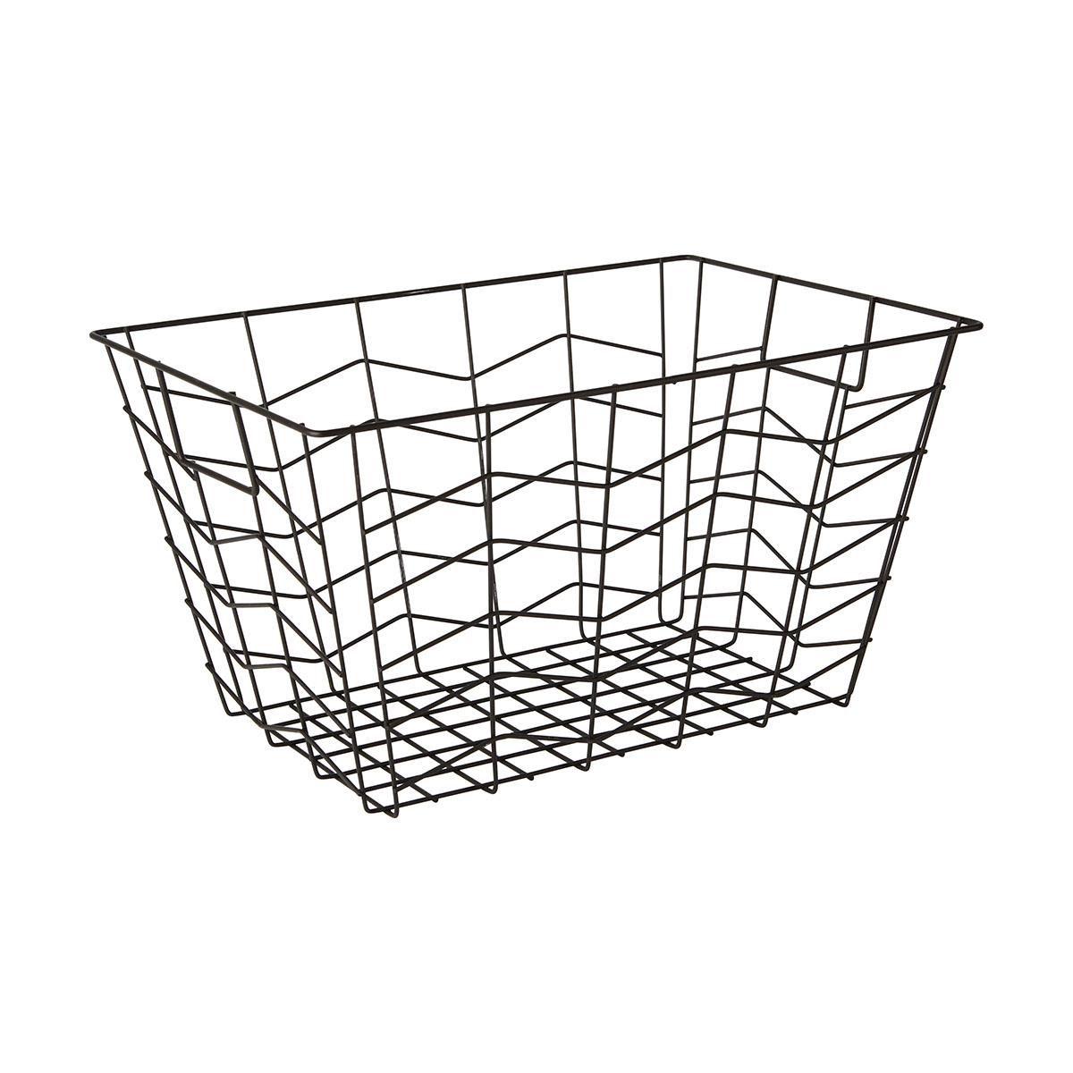 Black Rectangular Wire Basket | Kmart