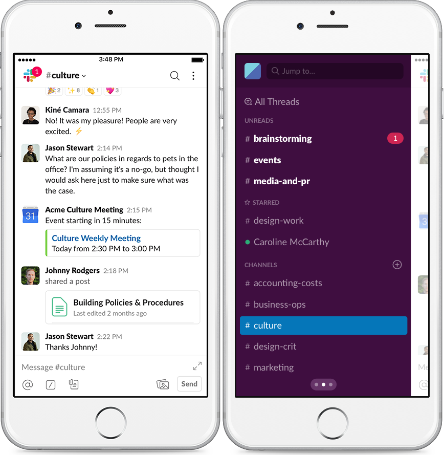 Get more from Slack on mobile (With images) Mobile app