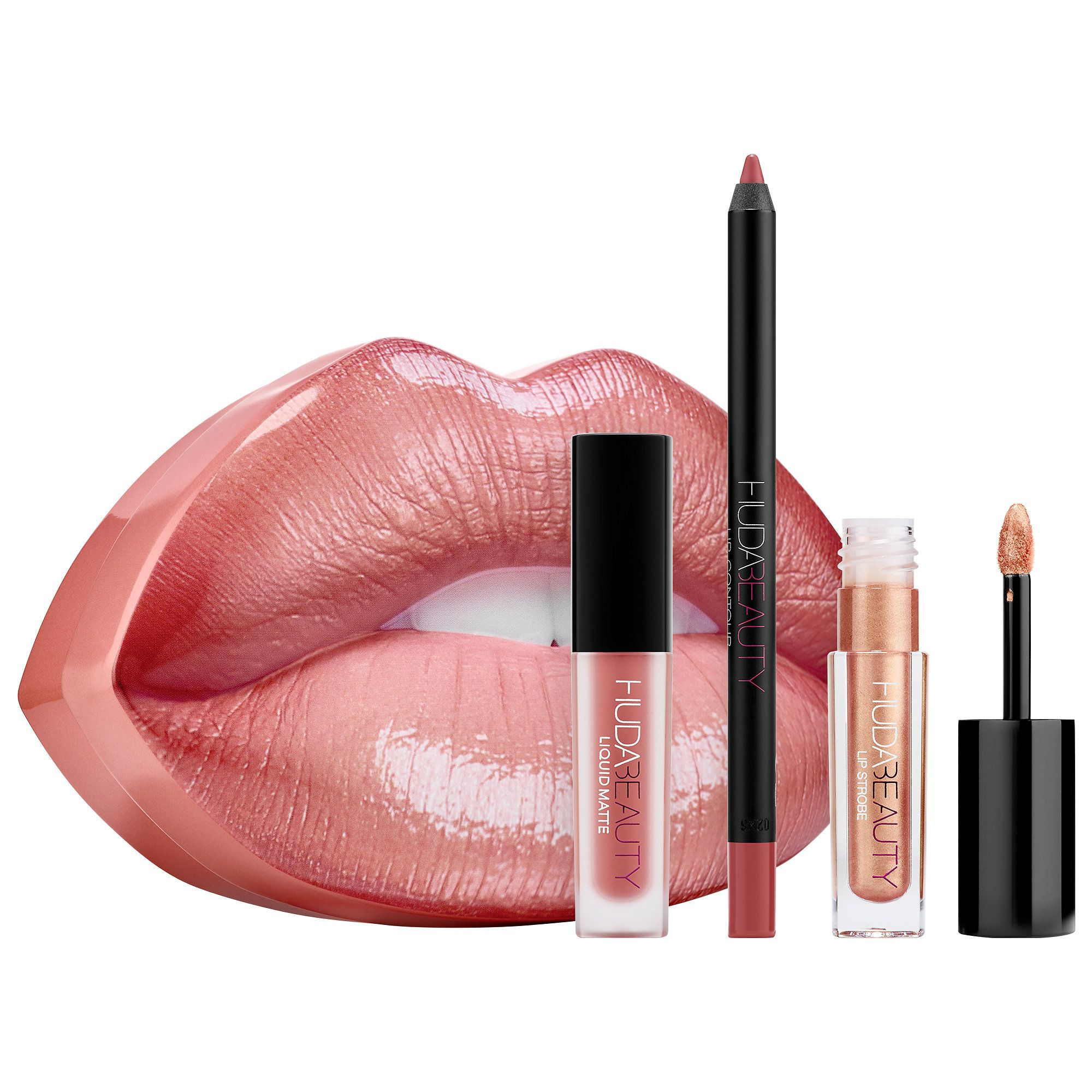 Huda Beauty Contour Strobe Lip Set Products Huda Beauty Lip