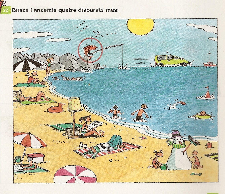2016-07) Hvad er forkert på stranden? | λογο | Pinterest | Worksheets