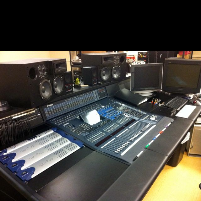 A Side View Of The Yamaha Dm2000 Console And Pro Tools Interfaces Etc