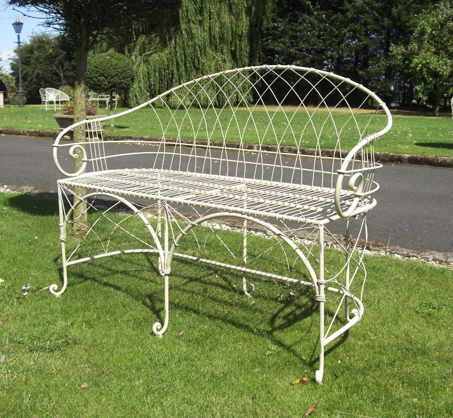 The Charming Clarence Garden Bench, Features Both Delicate Wirework  Together With Robust Comfortable Seating And · Garden BenchesWrought Iron  ...