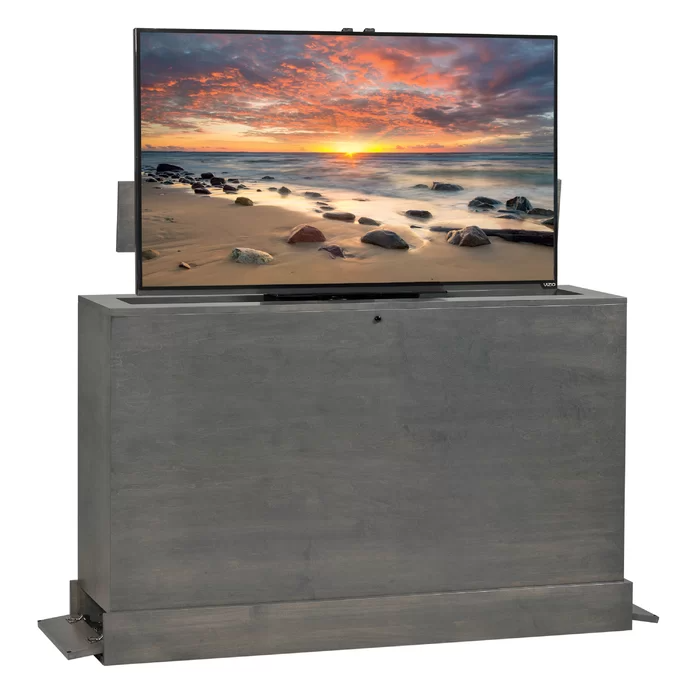 Azura Solid Wood Tv Stand For Tvs Up To 55 In 2021 Tv Lift Cabinet Outdoor Tv Cabinet Tv Outdoor tv cabinet for sale