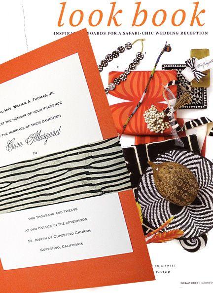 safari chic orange wedding invitations with zebra sash 98 rh pinterest com