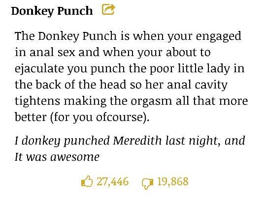 Donkey punch slang