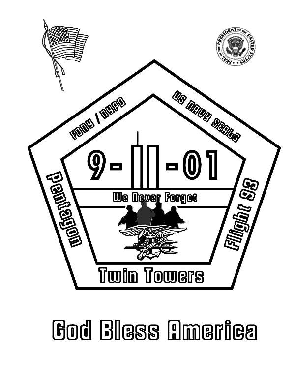 Patriots Day God Bless America Coloring Pages : Best Place