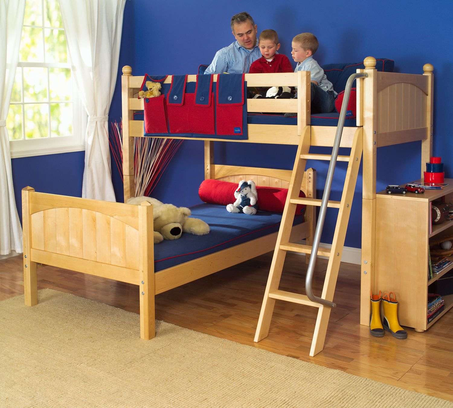 Mash L Shape Twin over Twin Bunk Bed with Ladder
