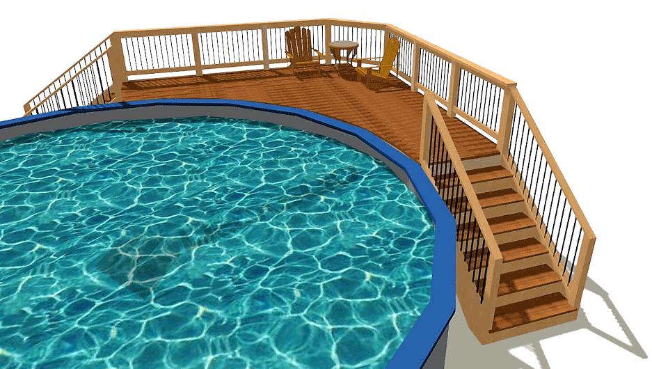 Quarter Round Pool Deck Plans Decksgo Plans Pool Deck Plans Decks Around Pools Pool Deck