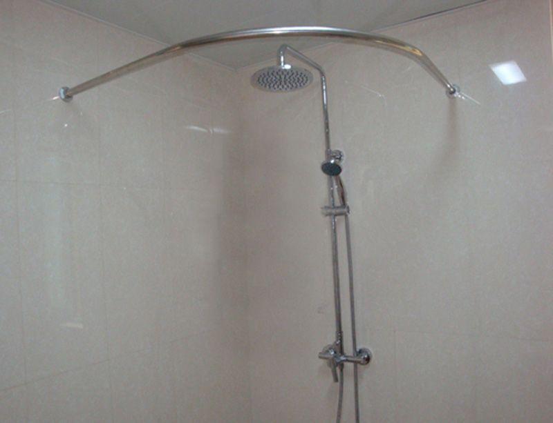 Elegant U Shaped Shower Curtain Rod Shape Models