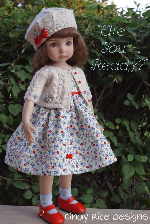 """Are You Ready?"" made for Dianna Effner's Little Darling dolls, cindyricedesigns.com ."