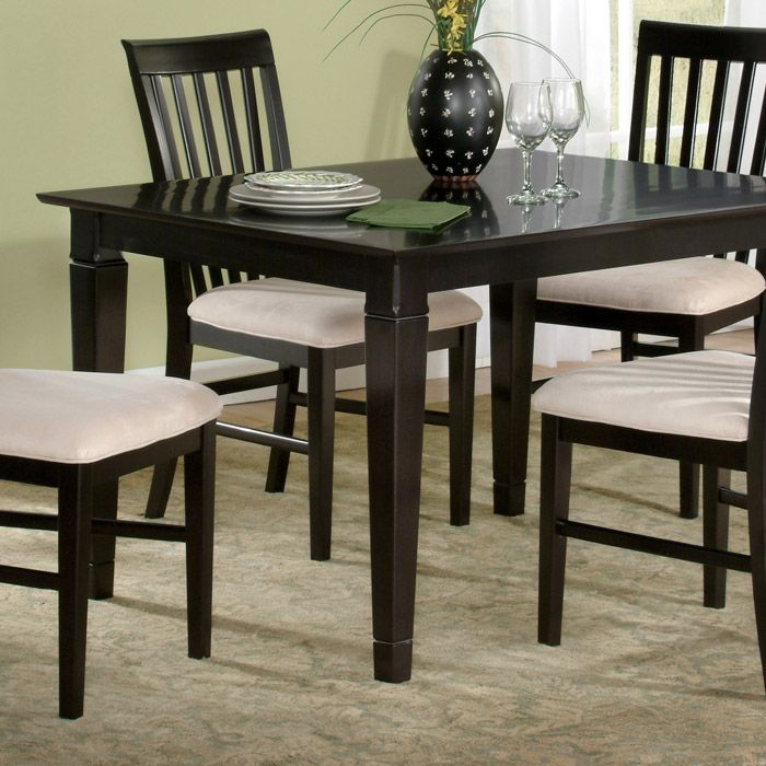 Deco 48 X 36 Solid Top Dining Table W Tapered Legs Atlantic