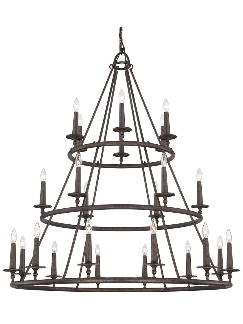 Voyager three tier 24 light chandelier antique hardware hardware voyager three tier 24 light chandelier arubaitofo Image collections