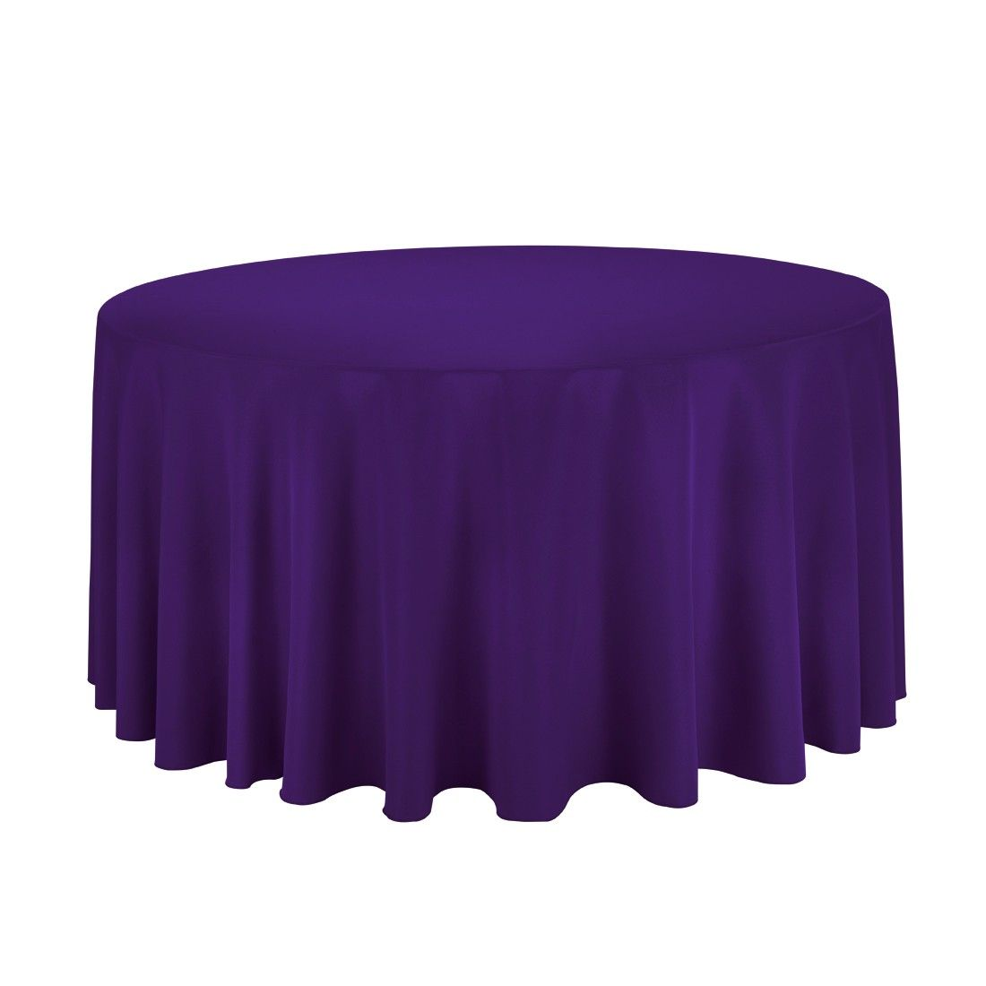 120 Inch Round Polyester Tablecloth Purple On A 60 Inch Round Table