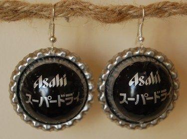 Japanese bottlecap earrings