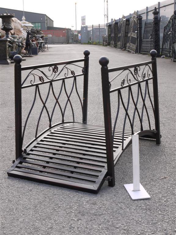 Drawing Of Metal Garden Bridge: Decorative And Functional Item For Home  Garden
