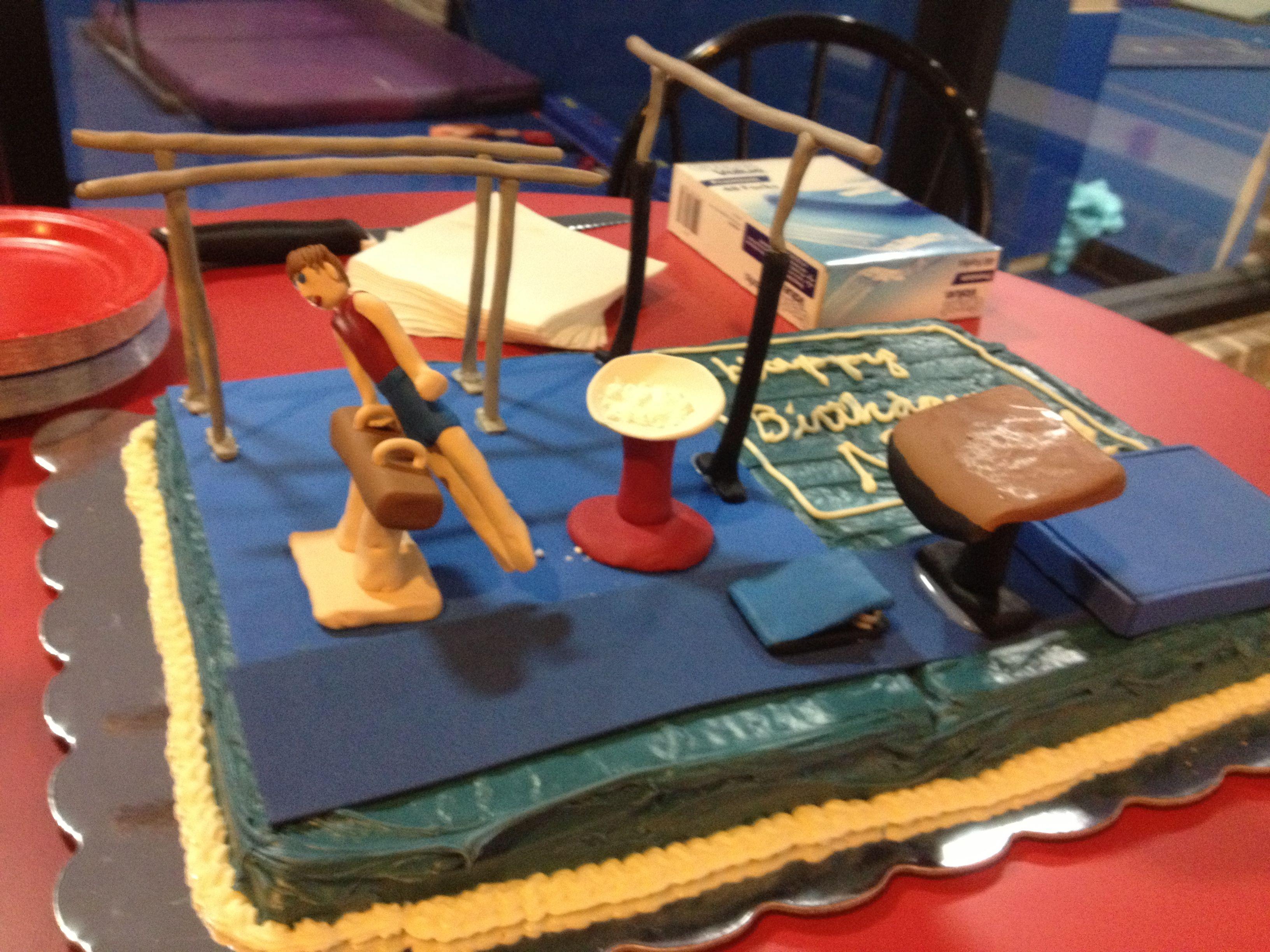 Boys Gymnastics Birthday Cake Cakes Pinterest