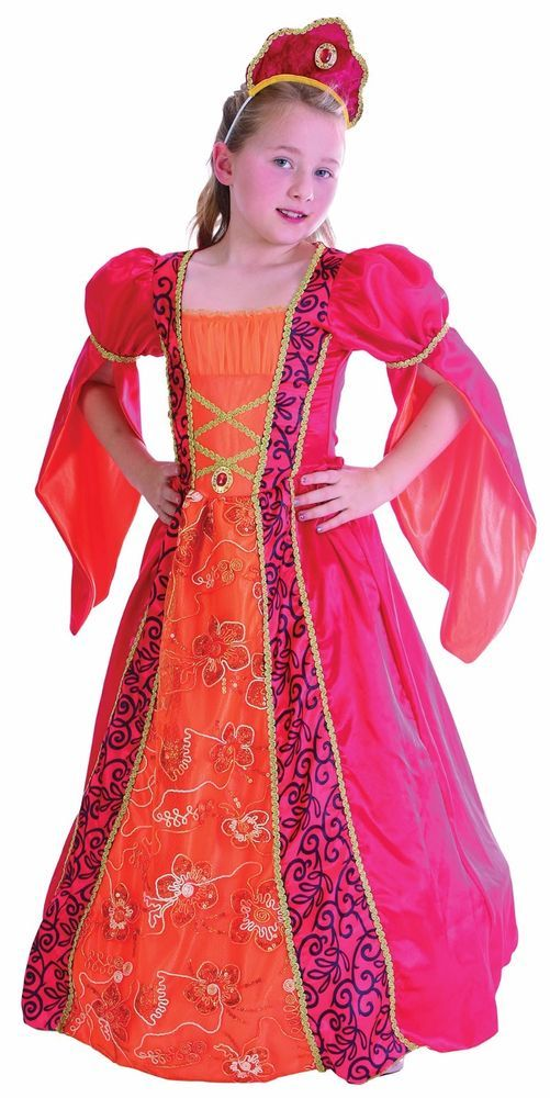 Girls Medieval Princess Fancy Dress Costume Child Lge Size Book Week Fairy Tale  sc 1 st  Pinterest & Girls Medieval Princess Fancy Dress Costume Child Lge Size Book Week ...