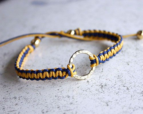 Blue & Gold spirit bracelet - you can bring these to camp, or wait and