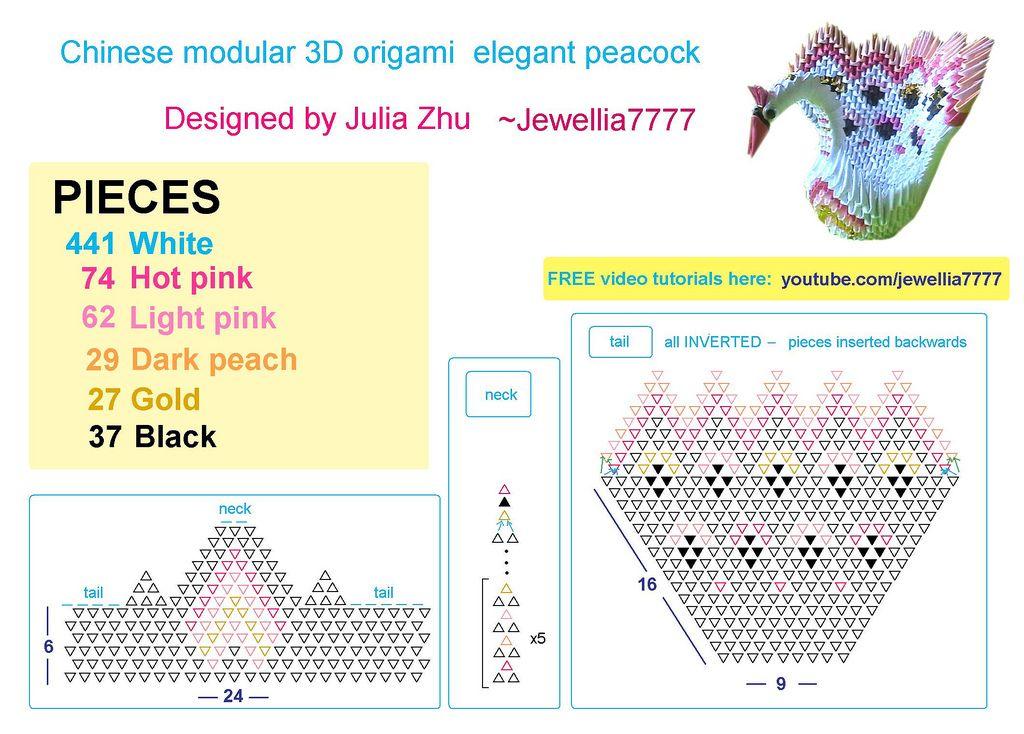 Peacock & Elegant (Thanh nhã) | 3D Origami Elegant ... - photo#8