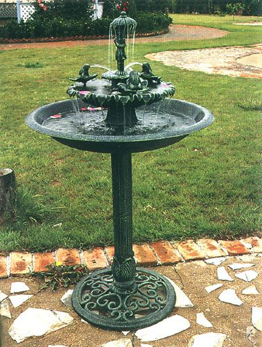 Outdoor Patio Furniture Water Fountains Umbreall And Frogs