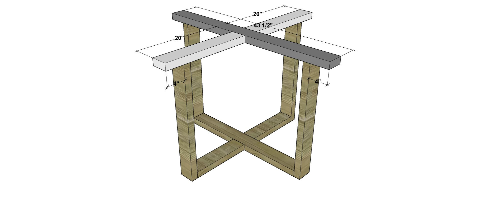 Attaching The Base For Free DIY Furniture Plans And