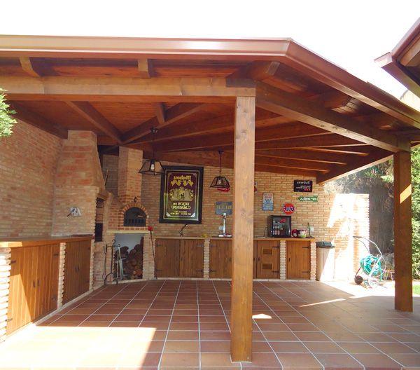 Porche de madera barbacoa pinterest madera - Madera para porches ...