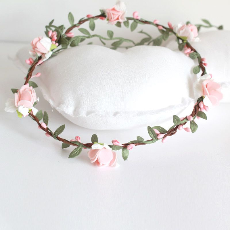 Coronitas de flores para bebe diy pinterest craft - Coronitas de flores ...