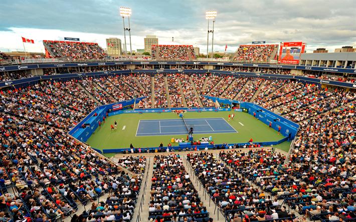 Lataa kuva Uniprix Stadium, Montreal, Quebec, Kanada, tärkein tenniskenttä, tennis stadium, sports arena, Kanadan Auki