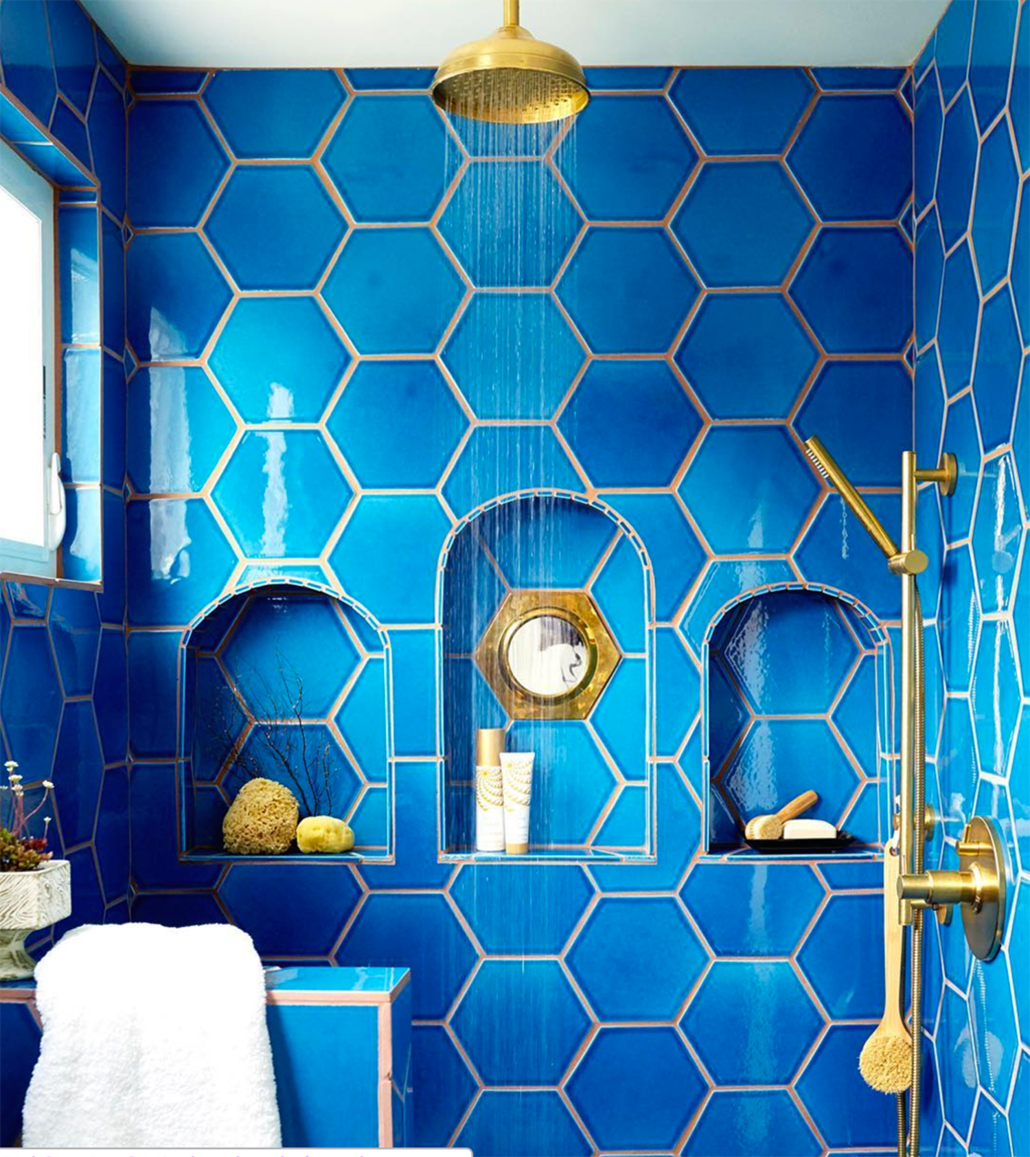 Unexpected & Utterly Gorgeous Tile & Grout Combos | Bathroom tiling ...