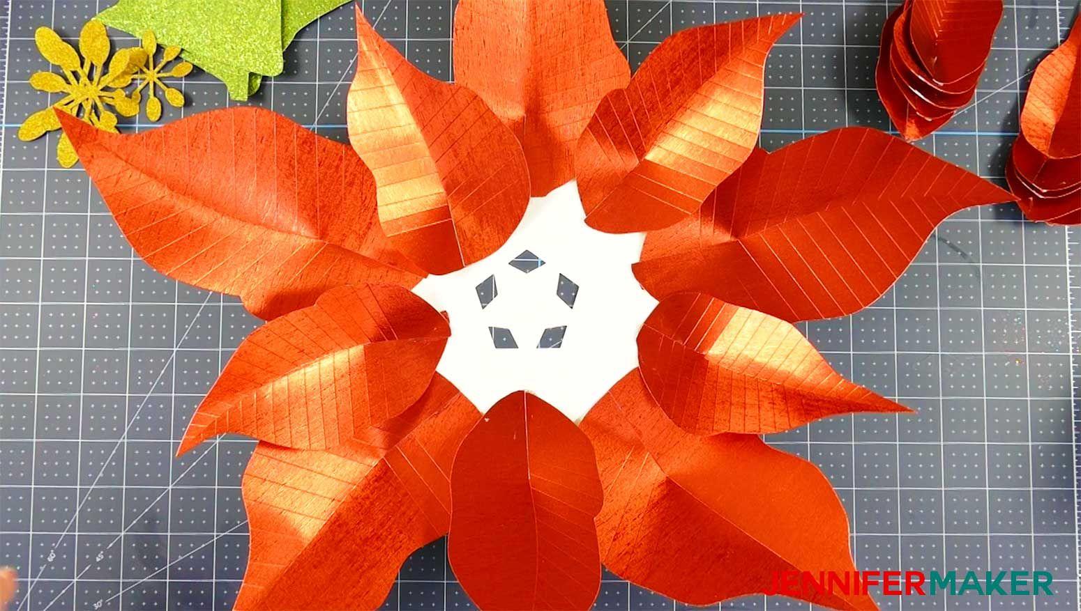Giant Paper Poinsettia Flower Pattern Jennifer Maker