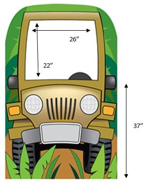 Jeeps In Jungle Cartoon Jungle Jeep Photo Cardboard Stand In
