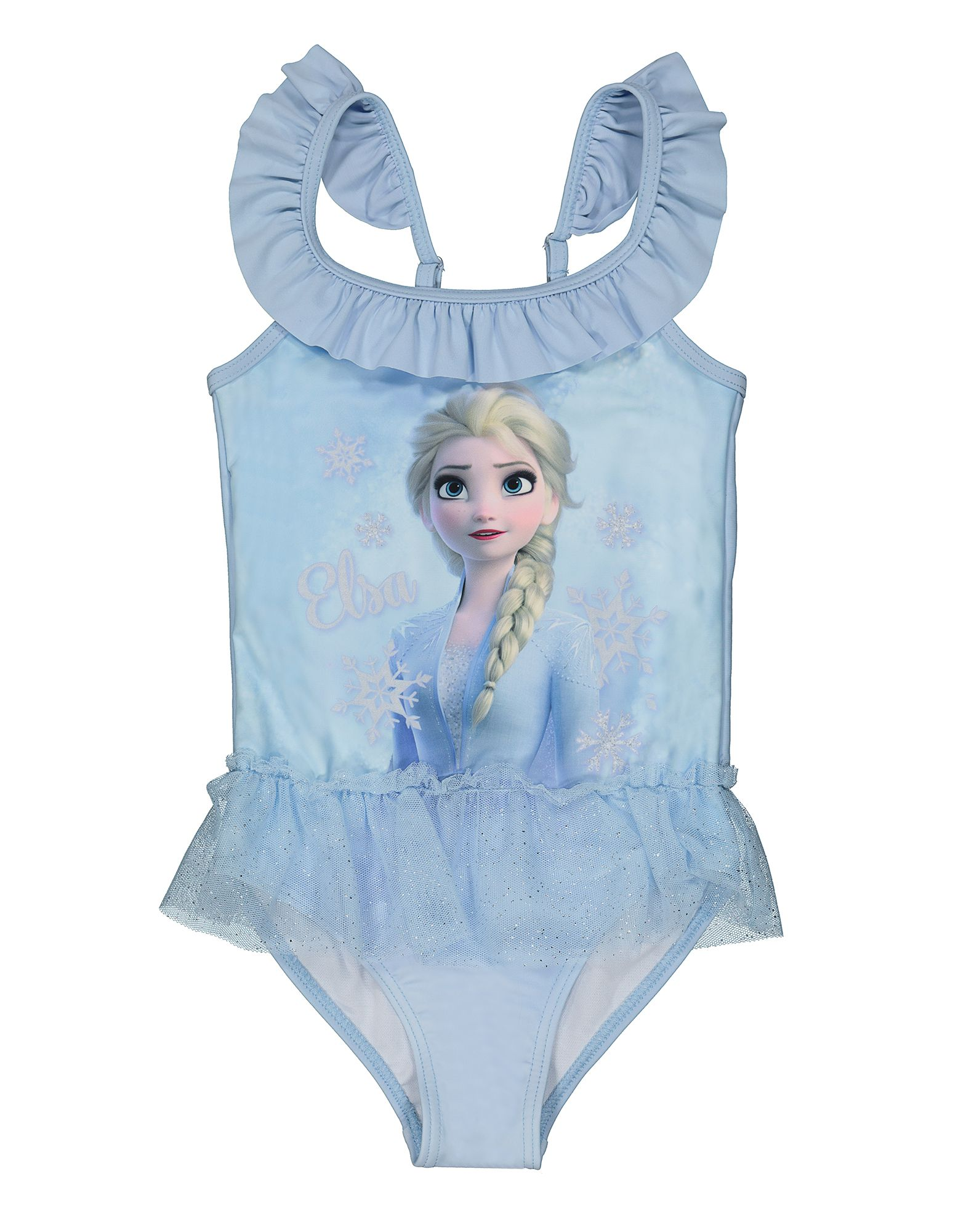 Disney Frozen Die Eiskonigin Badeanzug Fur Unsere Kleinen Madchen Mit Elsa Print In Blau In 2020 Modestil Badeanzug Kleine Madchen