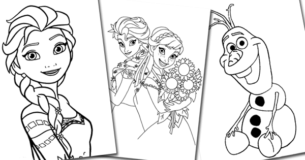 Printable Coloring Pages Of Anna Elsa Olaf And Snowgies From Disney S Frozen And Frozen Fever Frozen Coloring Pages Frozen Coloring Coloring Pages