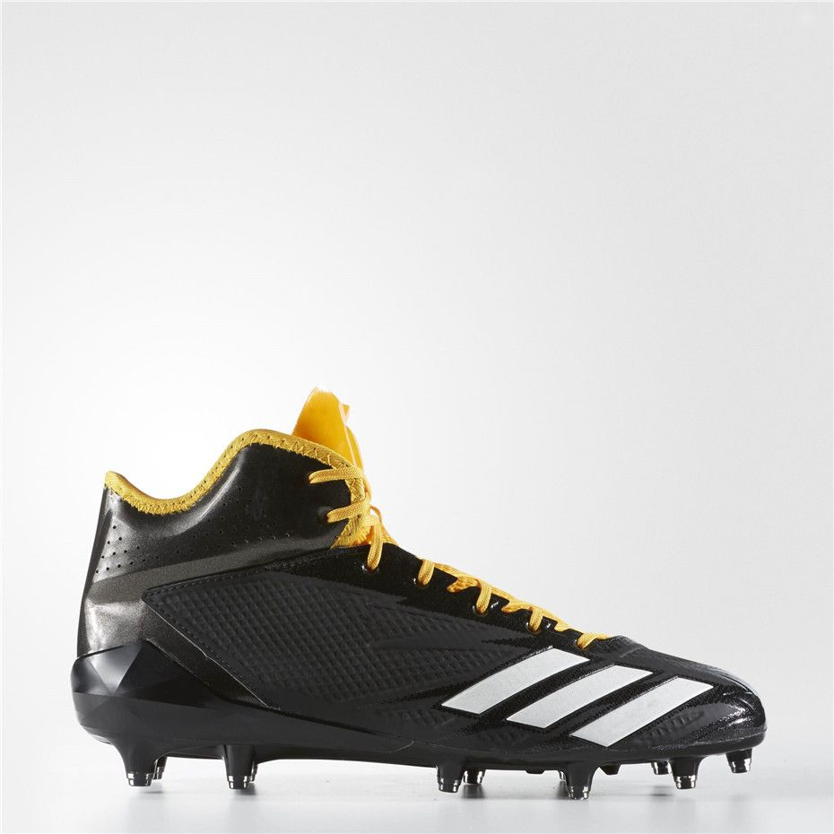 Adidas adizero 5-Star 6.0 Mid Cleats (Core Black / Running White / Gold