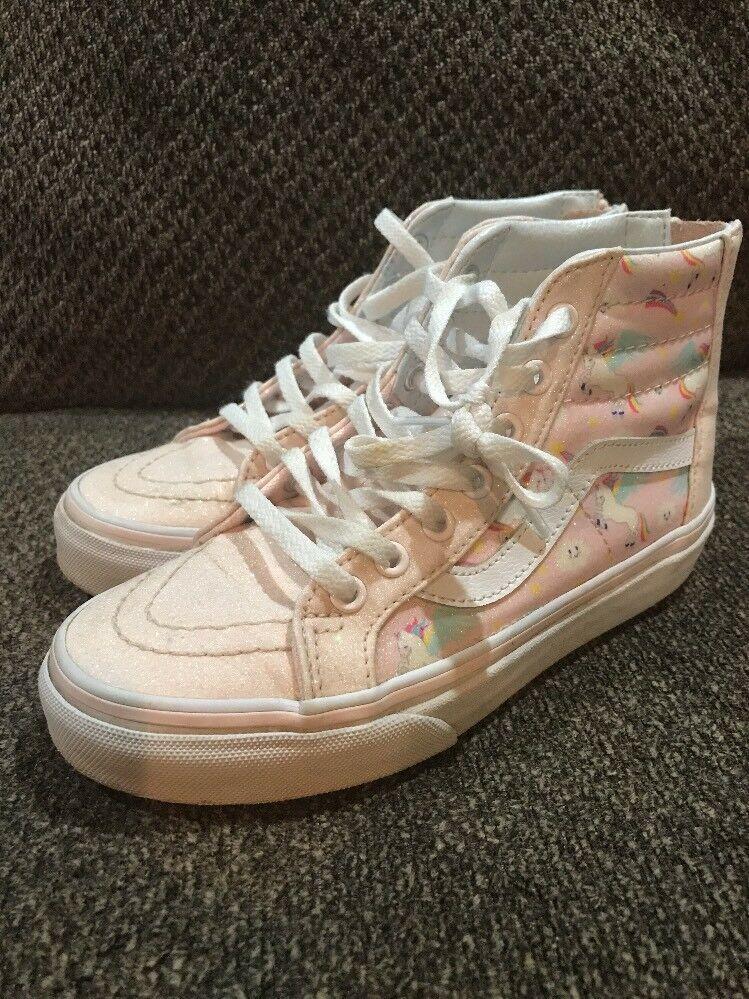 Used Girls Pink Unicorn Vans Shoes Size