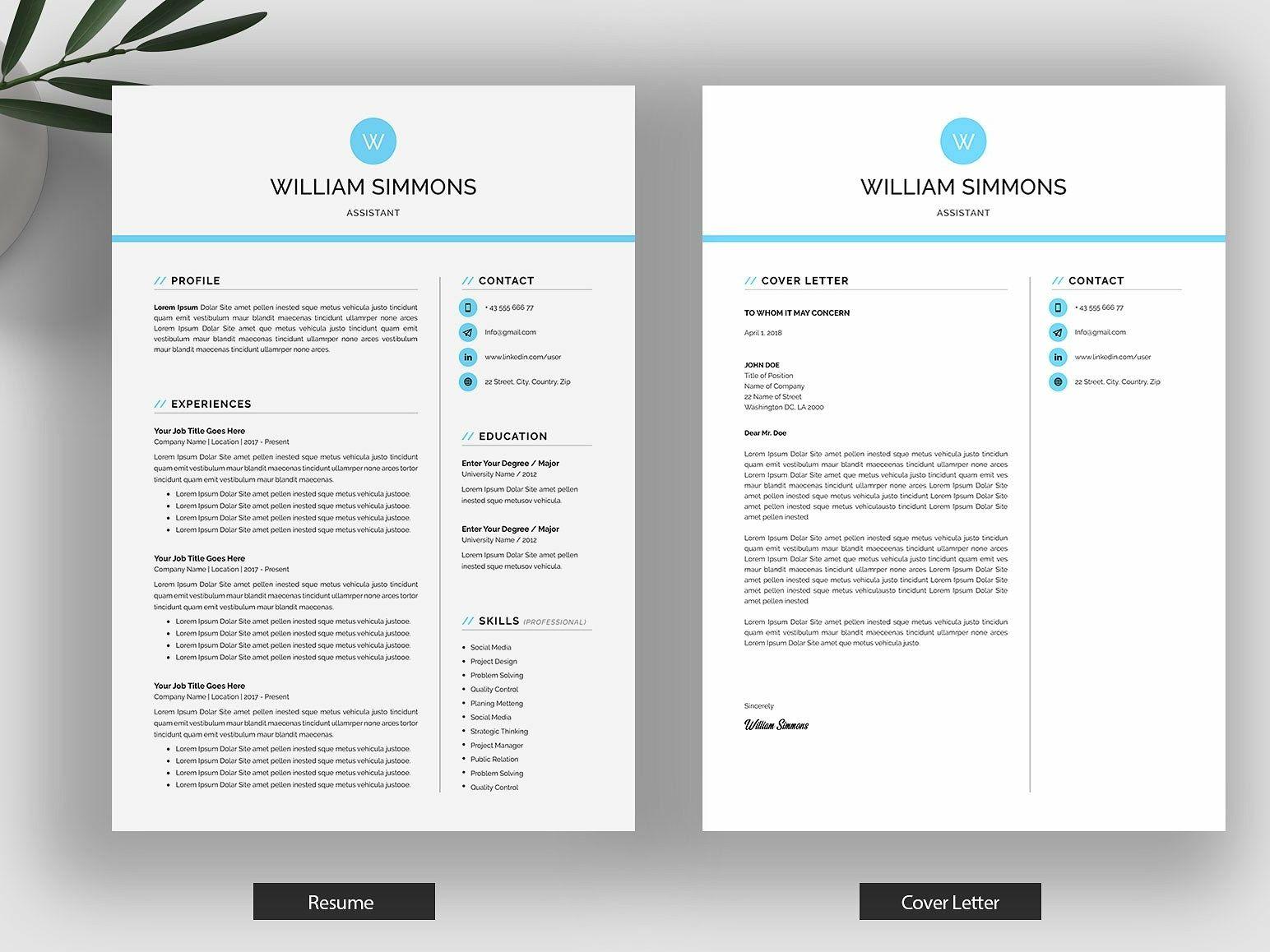 Word Resume/CV Cover letter for resume, Resume, Resume cv