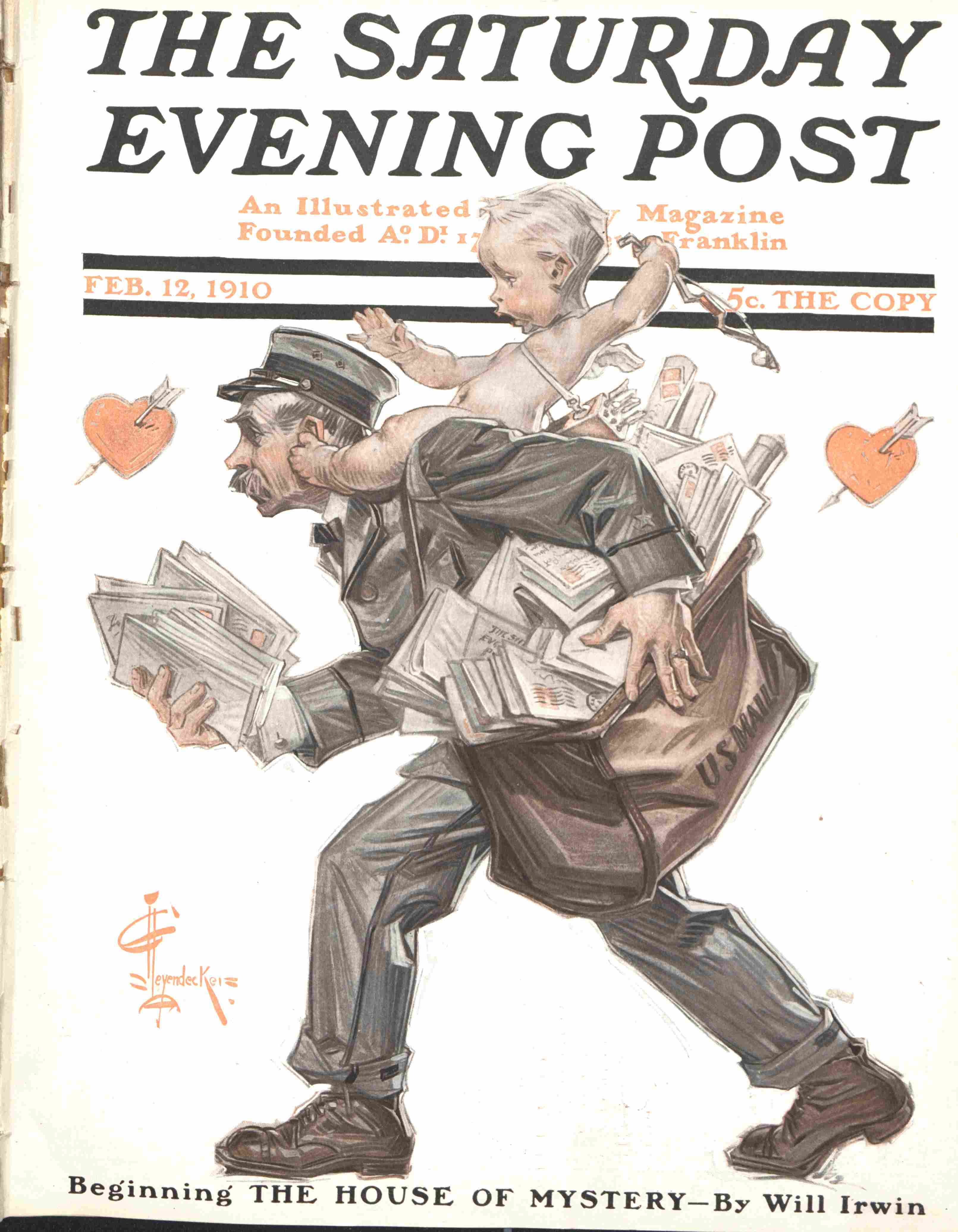 #Leyendecker cover from the February 12th, 1910 issue of The Saturday Evening Post.