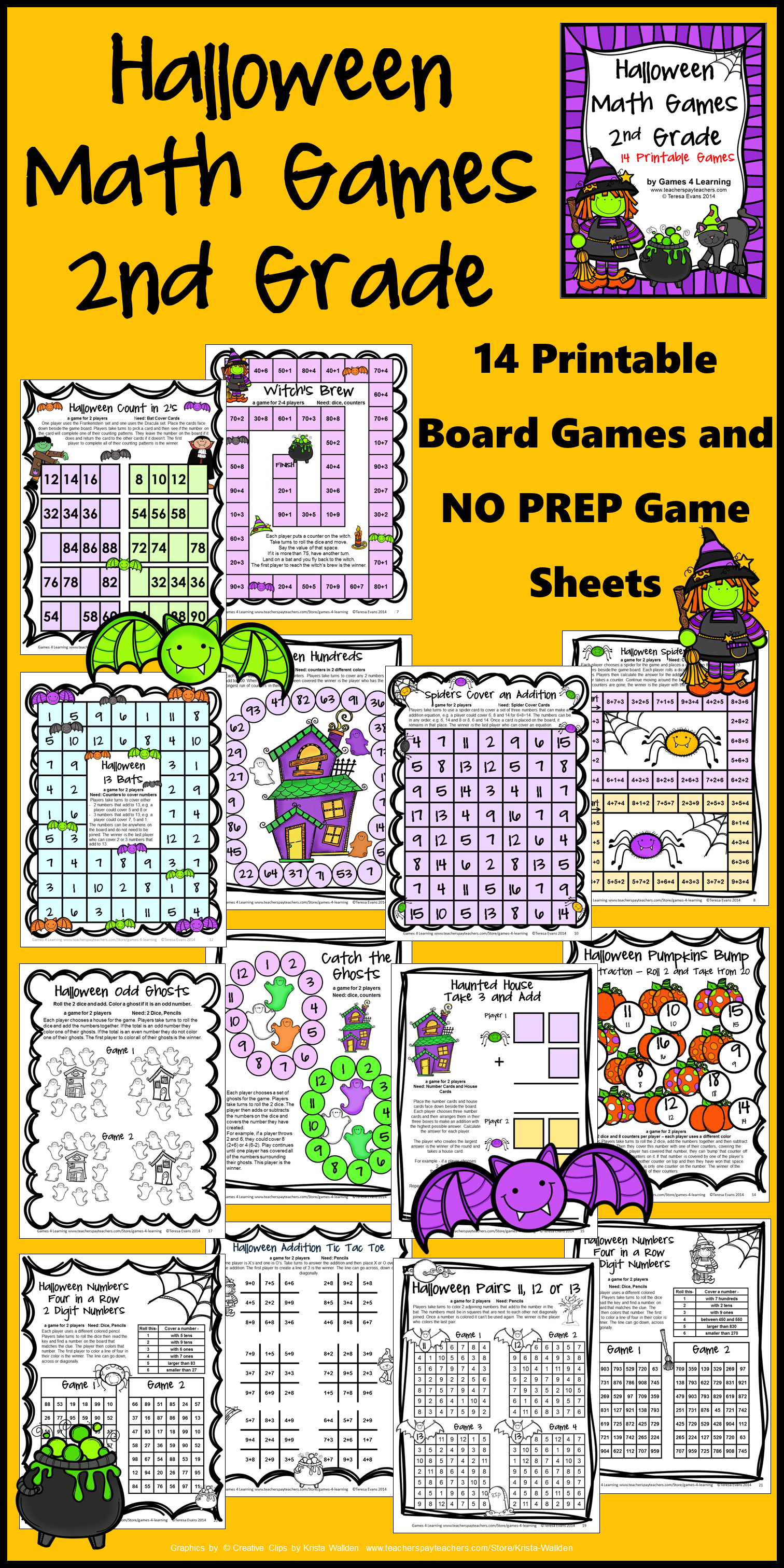 Halloween Activities Halloween Math Games 2nd Grade