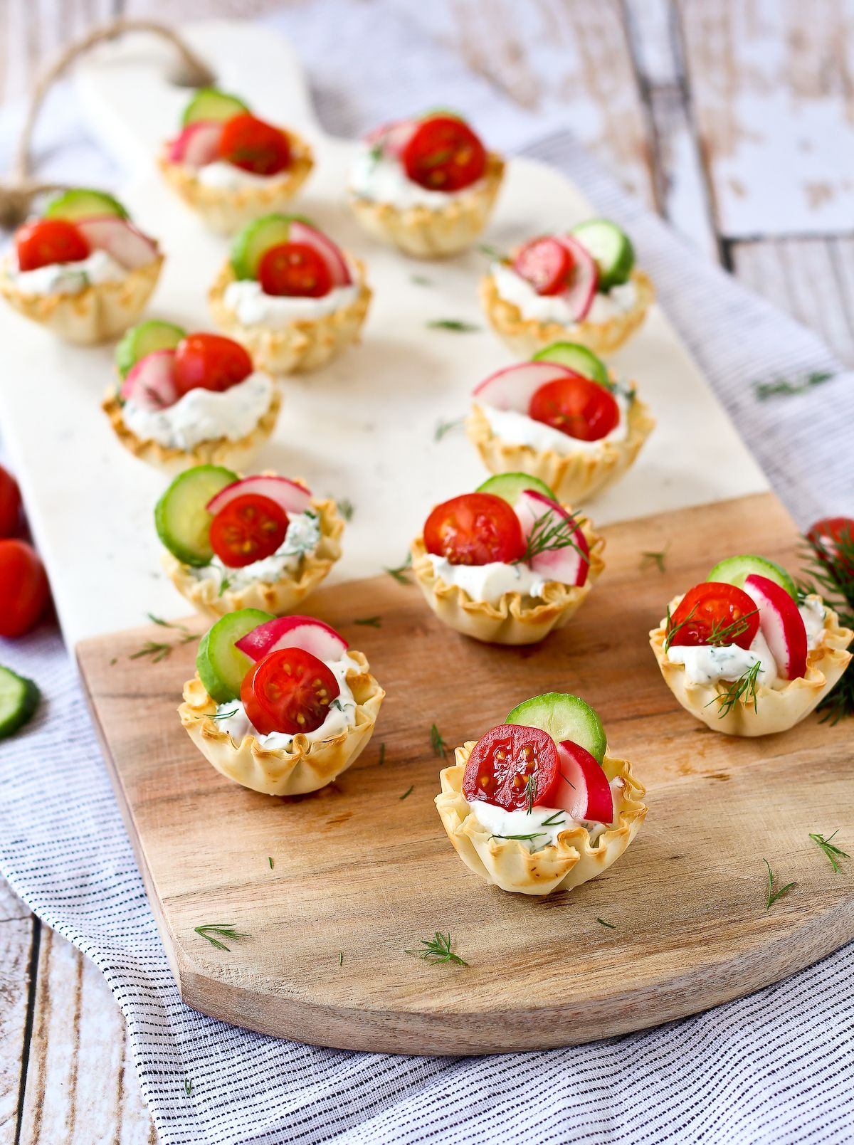 Spring Herb Cream Cheese Appetizer Cups