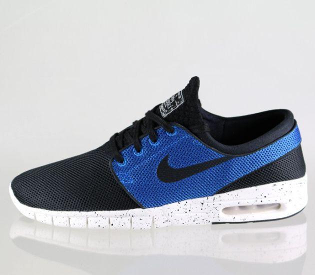 Nike SB Janoski Max - Black / Black - Photo Blue - Ivory   Nike ...