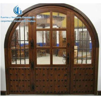 Puerta exterior con fijo acristalados para aprovechar luz - Puertas acristaladas exterior ...