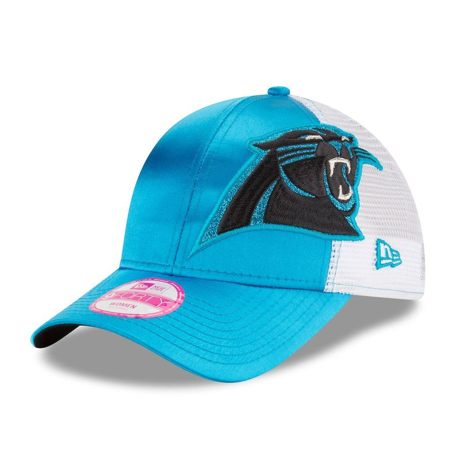 2ab78348e Women s Carolina Panthers New Era Blue Team Glitzer 9FORTY Adjustable Hat