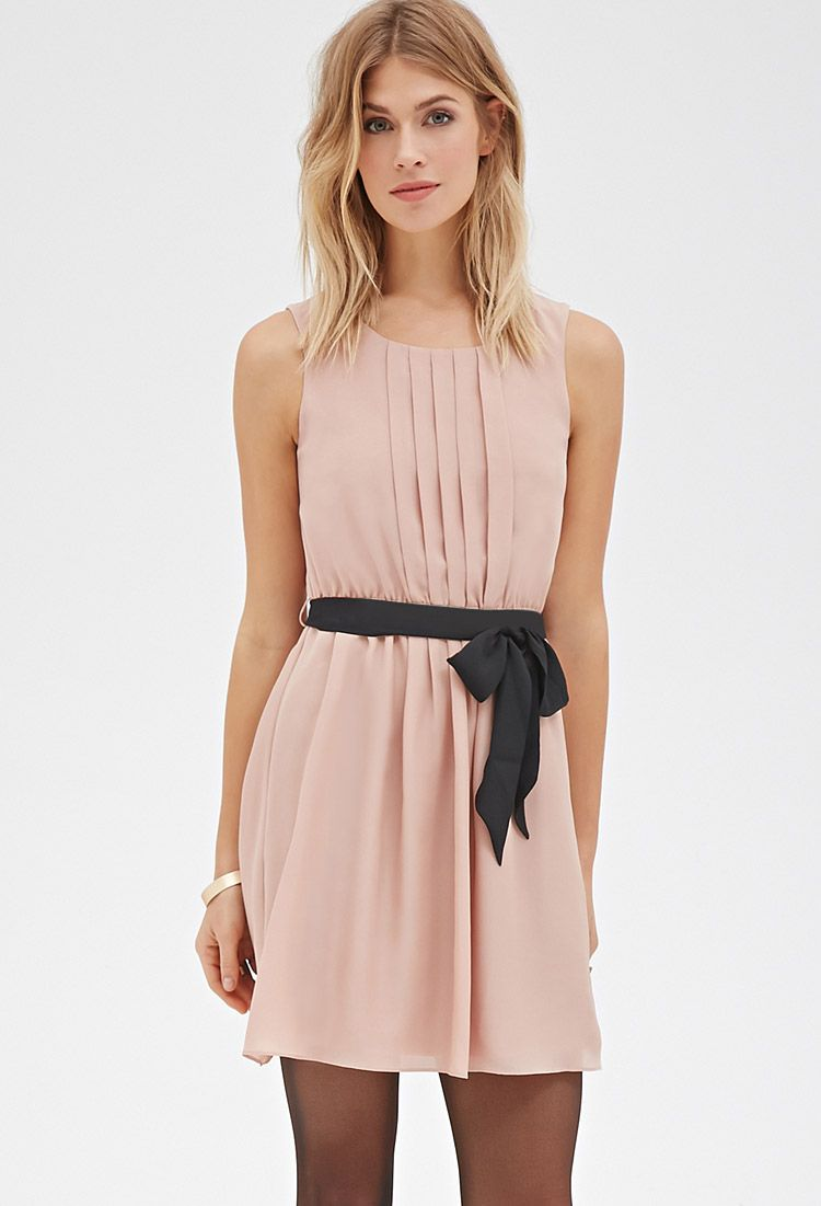 Pintucked Fit Flare Dress Forever 21 Canada Style Pinterest