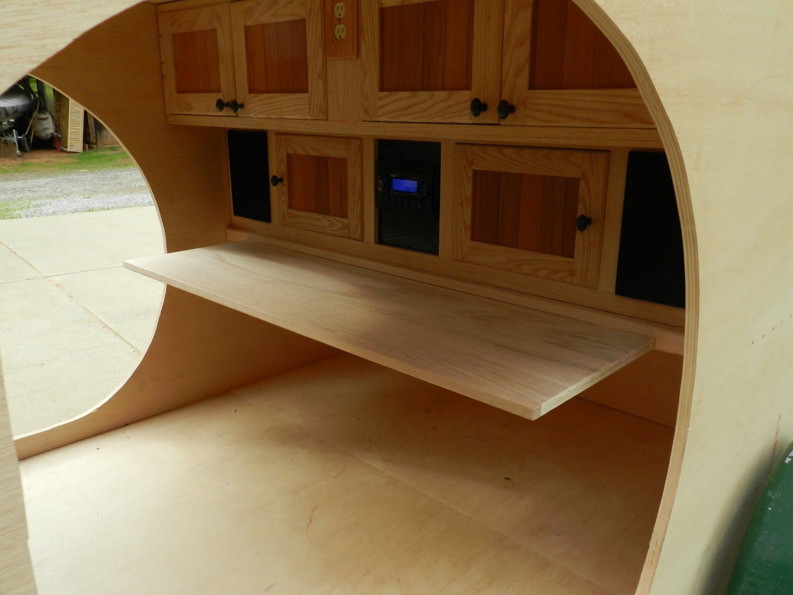 Eds Teardrop Trailer Project Nice Rollout Shelf I Wonder If Could Manage Something Like