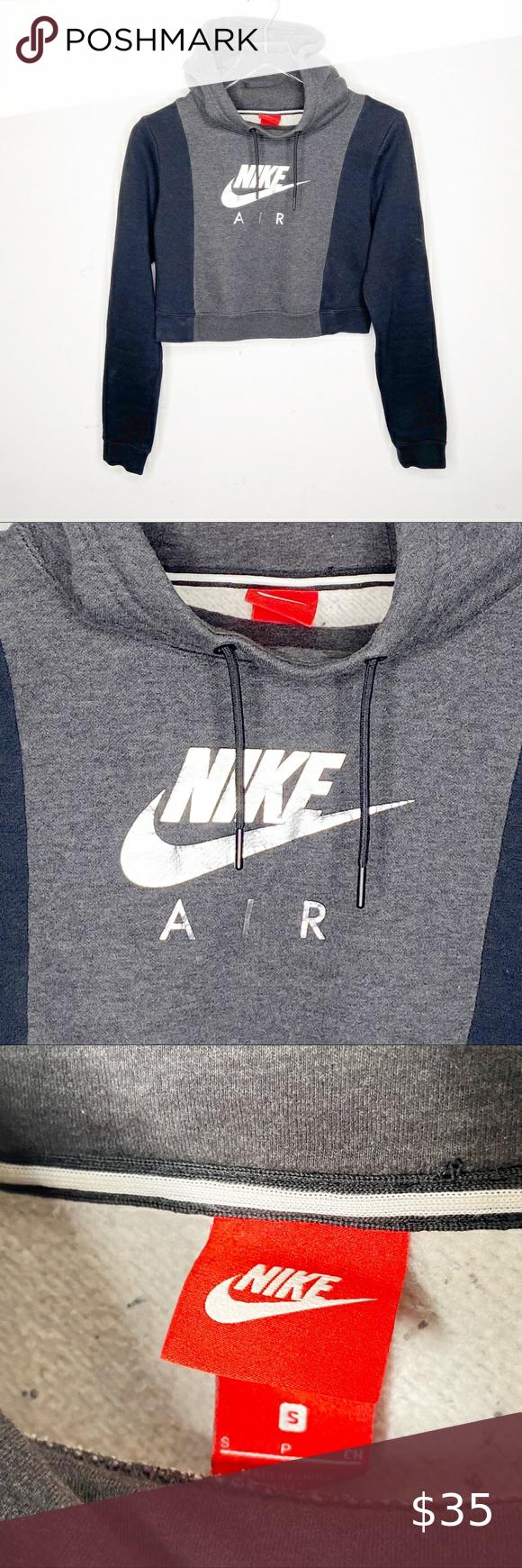Nike Air Rally Cropped Color Block Sweatshirt Hood Color Block Sweatshirt Hooded Sweatshirts Sweatshirts [ 1740 x 580 Pixel ]