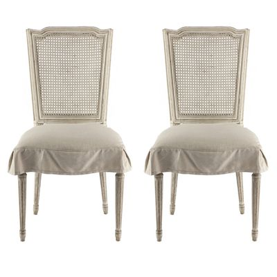 Shabby Chic Side Chairs with Skirt