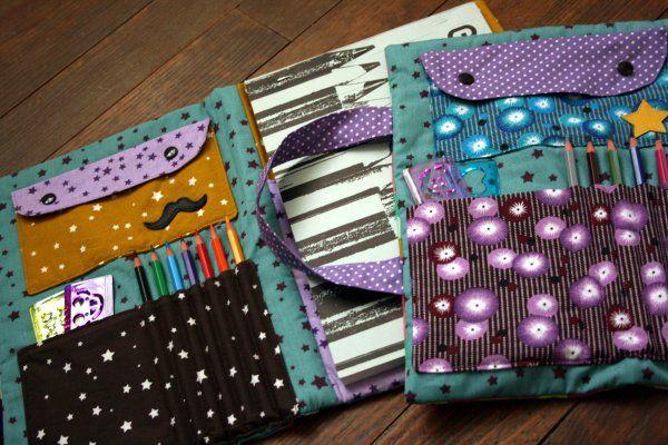 capa / bolsa caderno e lapis